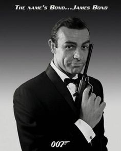 James Bond James Bond poster featuring a classic shot of Sean Connery as James Bond. Sean Connery is widely regarded as the best Bond and in this James Bond poster he is in classic 007 pose with tux and pistol. Sean Connery James Bond, James Bond Girls, James Bond Movies, All James Bond Actors, James Bond Images, Best Bond Girls, Kevin Costner, Clint Eastwood, Pulp Fiction