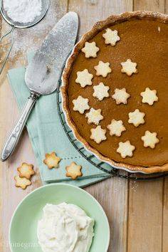 Spiced Pumpkin Pie with White Chocolate Cream