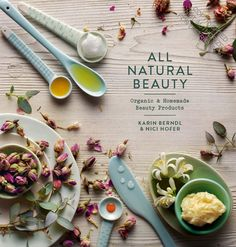 ALL NATURAL BEAUTY: Organic & Homemade Beauty Products by Karin Berndl & Nici Hofer. Over 40 natural, organic beauty treatments and products to make at home. From dull skin to drab hair and tired eyes, the traditional recipes in this book can change a multitude of little beauty niggles, and each of the treatments is free from nasty paraffins, synthetic colors, and Triclosan—and they can be made at a fraction of the cost of store-bought products... #antiaging #homemade #beauty #skincare…