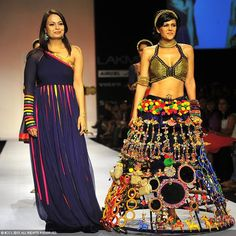 Mandira Bedi with Pallavi Jaipur on Day 6 of the Lakme Fashion Week
