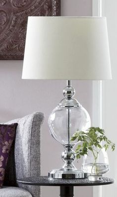 Glass table lamp from Through the Country Door