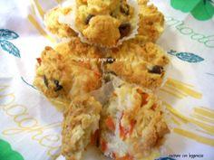 Muffin con peperone e olive
