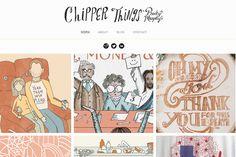 Becky murphy site portfolio de layout inspiração