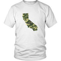 California - Dark Green Camo Home Tee