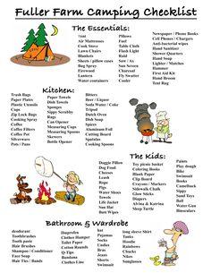 Glamping packing list for kids : Thebrighterwriter.com