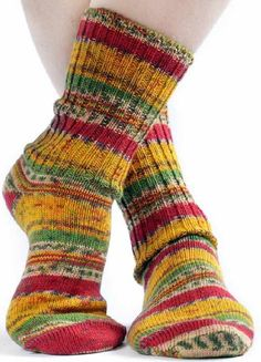 fair isle (irish) walking socks in mustard-red mix ♥