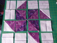 Half square triangle quilt tutorial