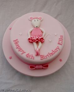 Angelina Ballerina Cake photo: Angelina Mouse Cake Girls_Birthday_Cake_018.jpg