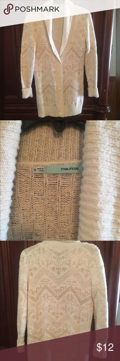 Maurices Long Comfy Sweater Maurices Long Comfy Sweater, good condition, super cute w/leggings. Smoke/Pet Free Home, Maurices Sweaters Cardigans