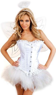 the violet vixen saintly angel white corset costume 8400 http - Corsets Halloween Costumes