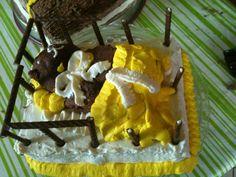 Baby taart met teddybeer