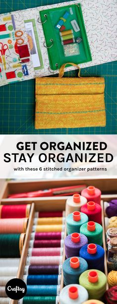 Check out these sewing organizer projects to tidy up your space. https://www.craftsy.com/blog/2015/06/weekend-warriors-organizers/?cr_linkid=Pinterest_Sew_OP_BLOG_BlogRefer&cr_maid=90033&regMessageId=12&cr_source=Pinterest&cr_medium=Social%20Engagement