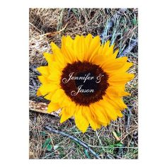 Rustic Country Camo Sunflower Wedding Invitations for a fall hunting theme wedding. #wedding #camo #sunflowers