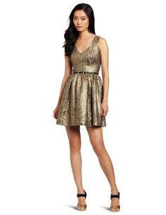 Kensie Women's Brocade Dress, Gold, 6 Kensie,http://www.amazon.com/dp/B008CFECWC/ref=cm_sw_r_pi_dp_dAqmsb13CF6VVJPF