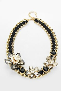 Crystal Valencia Necklace in Black on Emma Stine Limited
