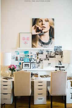 IKEA is making a killing on those drawers. From home office to makeup vanities, everybody is rockin them!
