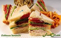 Double-decker Clubhouse Sandwich - an American classic