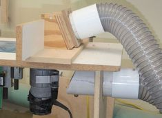Most woodworking power tools do a poor job of dust collection. You can solve that problem by creating your own port system for each individual tool.