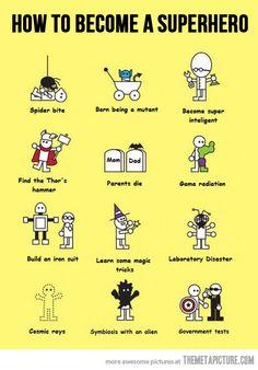 how to become a superhero
