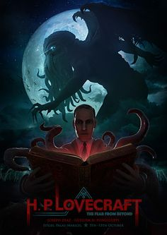 Lovecraft, The Fear From Beyond, Joseph Diaz Hp Lovecraft, Lovecraft Cthulhu, Cthulhu Art, Call Of Cthulhu, Cthulhu Tattoo, Geeks, Necronomicon Lovecraft, Le Kraken, Lovecraftian Horror