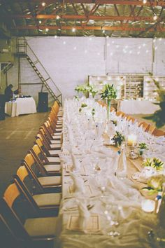 Handmade Industrial Wedding. Love this, such a different perspective on space