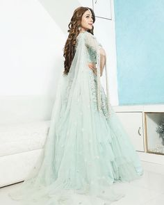 Outfit by Managed by Thank you ? Pakistani Dresses, Indian Dresses, Indian Outfits, Baby Girl Dresses, Bridal Dresses, Tashan E Ishq, Indian Designer Suits, Engagement Dresses, Stylish Girl Pic