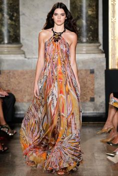 We couldn't get enough of Pucci's tie-dye prints, Etro's colorful patterns, Chloé's trapeze dresses, and the overall gorgeous aesthetic for spring 2015.