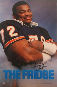 The Fridge - William Perry. Back when the Chicago Bear defense ruled tha NFL Clemson Football, Bears Football, Football Is Life, Football Players, Denver Broncos, Clemson Tigers, Pittsburgh Steelers, Dallas Cowboys, Cowboys Memes