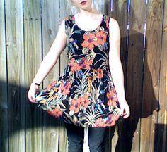 1980's Vintage Hawaiian Sleeveless Mini Dress