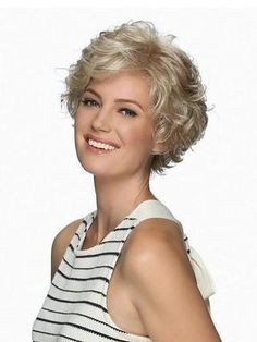 Meg by Estetica Designs Wigs - Lace Front Wig Short Bobs With Bangs, Curly Hair With Bangs, Curly Hair Cuts, Long Curly Hair, Short Hair Cuts, Curly Hair Styles, Curly Bob, Curly Short, My Hairstyle