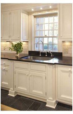 Light Above Kitchen Sink, Kitchen Recessed Lighting, Kitchen Sink Window, Kitchen Lighting Fixtures, Kitchen Sinks, Floors Kitchen, Kitchen Island, Recess Lighting In Kitchen, Kitchen Cabinets Over Sink
