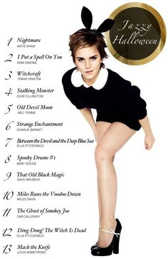 Halloween Jazz Playlist. Not sure what Emma Watson has to do with Jazz or Halloween, but hey!
