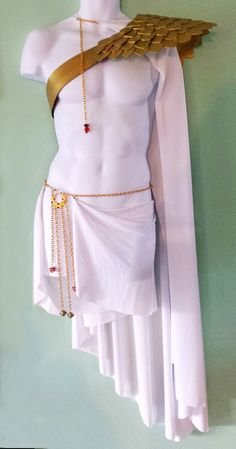 ***This Listing is for the Greek God Costume Sold In Separate Pieces***The full costume is available in an alternate listing*** Handmade, custom sized Greek God Costume, Zeus Costume, Greek Costumes, Mens Toga Costume, Greek Goddess Costume, White Costumes, Shoulder Armor, Greek Gods, Zeus Greek