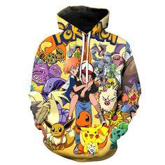 Pokemon Themed 3D Hoodie //Price: $ 49.95 & FREE shipping //  #nintendo #pikachu #pokemonx #pokemony #pokeball #pokemongo #pokemonxy #pokemontrainer