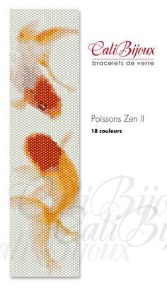 Poissons Zen II   PATTERN by CALIBIJOUX on Etsy, $10.00