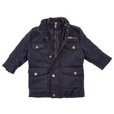 Navy Military Wool Blend Jacket w/ Vestee (12-24m)