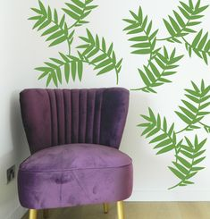 Palm leaf wall stickers from moonface studio. #wallstickers #homedecor https://www.moonfacestudio.com.au/product-page/palm-leaf-wall-sticker