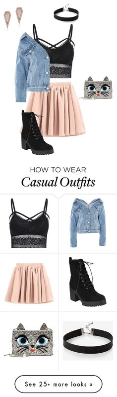"""Casual1"" by addileaaaa on Polyvore featuring Karl Lagerfeld, Express, Anne Sisteron and Topshop"