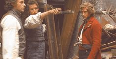 What are you pointing at Eddie?  Somewhere beyond the barricade?