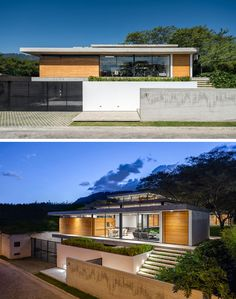 Gabriel Rivera Arquitectos have completed the Tacuri House, a modern home in Quito, Ecuador, whose design was inspired the natural environment that surrounds it. Modern Residential Architecture, Architecture Design, Landscape Architecture, Landscape Design, Wood Staircase, Modern Cottage, Glass House, House Goals, Model Homes