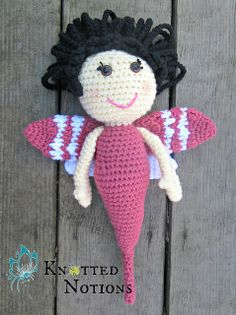 """Debbi the Dragonfly Amigurumi Doll - Free PDF Pattern ( click """"download"""" or """"free Ravelry download"""") http://www.ravelry.com/patterns/library/debbi-the-dragonfly"""