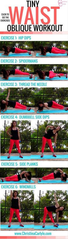 Discover Oblique Exercises that will help you get a tiny waist in this Oblique Ab Workout for Women from trainer Christina Carlyle.