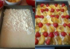 Jednoduchý hrnčekový ovocný koláč s tvarohom a posýpkou (fotorecept)  - obrázok 5