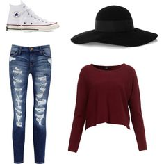 Fall chic by skormanyos on Polyvore featuring polyvore, fashion, style, Current/Elliott, Converse and Eugenia Kim