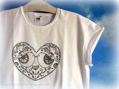 Koszulka z sercem. w Ewelinaart na DaWanda.com