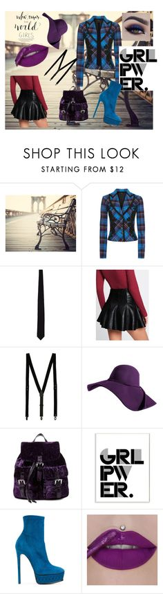 """""""Time to grab the bull by the Horn, girls!"""" by melissa-jones-01 ❤ liked on Polyvore featuring Drakes London, Topman, Steve Madden, Stupell, Casadei, girlpower and powerlook"""