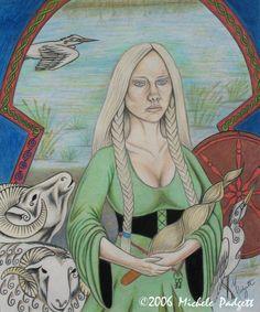 Frigga's Shrine: Frigga Chant and Poem Norse Pagan, Pagan Art, Old Norse, Norse Mythology, The Almighty Johnsons, Asatru, Weird Stories, Gods And Goddesses, Book Of Shadows
