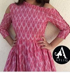 Different types of frock neck designs - ArtsyCraftsyDad Simple Kurti Designs, Salwar Designs, Kurta Designs Women, Kurti Designs Party Wear, Lehenga Designs, Dress Neck Designs, Designs For Dresses, Blouse Designs, Kurthas Designs