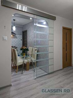Sliding Glass Door, Sliding Doors, Modern Glass, Divider, Room, Furniture, Home Decor, Homemade Home Decor, Sliding Door