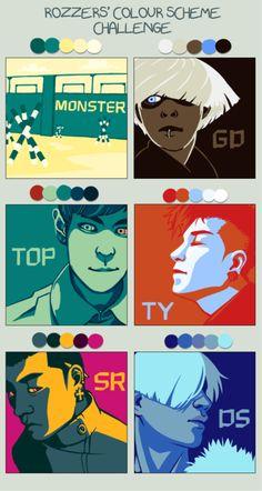 Big Bang: Monster Color Palettes. [K-pop]